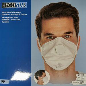 HYGOSTAR FFP3 respirator z ventilom